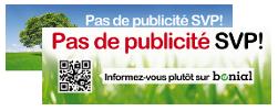 Sticker Stop Pub / Pas de publicité SVP envoyé gratuitement chez vous !